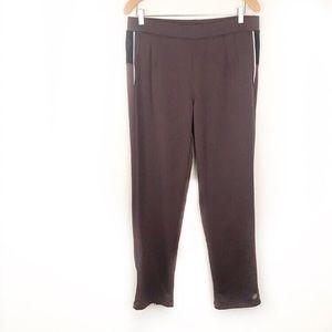 ATHLETA | Purple Joggers w Zip Ankles Size Large
